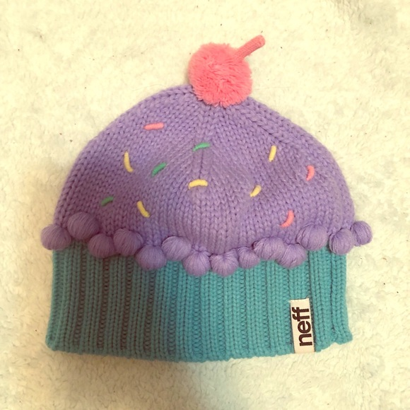 Knit Slouch Beanie Pink Sprinkle Cupcake Hat Blue Confetti Multicolor Purple